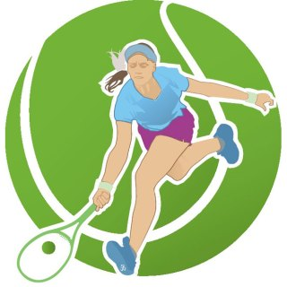 Tennis Player Image Free Vector