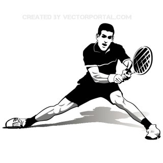 Tennis Player Novak Djokovic Free Vector