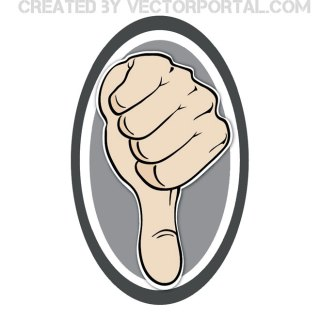 Thumb Down Sign Free Vector