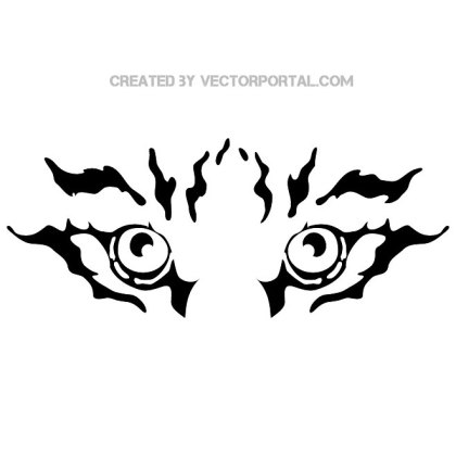 Tiger Eyes Image Free Vector