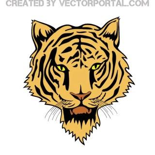 Tiger Head 3 Free Vector