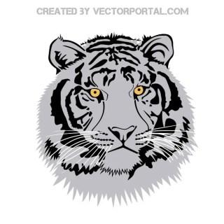 Tiger Head Clip Art Free Vector