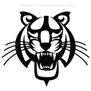 Tiger Head Illustrator Free Vector