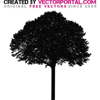 Tree Silhouette Graphics Free Vector
