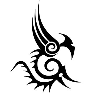 Tribal Beast Tattoo Free Vector