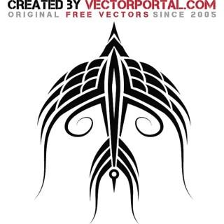 Tribal Bird Art Free Vector