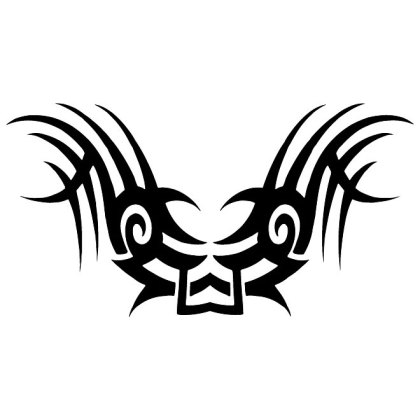 Tribal Bird Graphics Free Vector