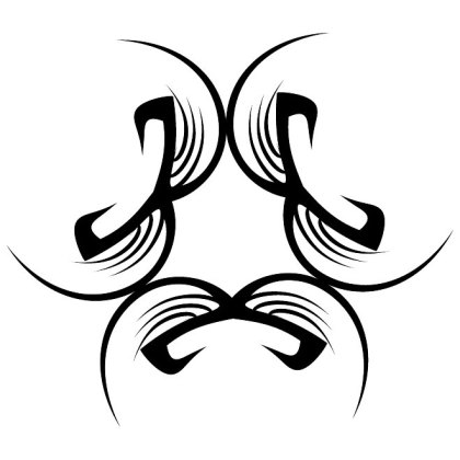 Tribal Black Shape Free Vector