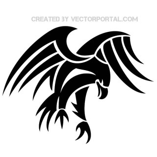 Tribal Eagle Clip Art Free Vector