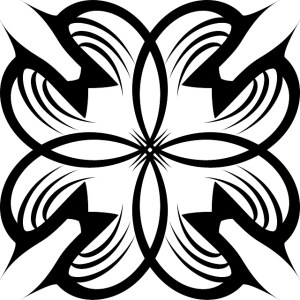 Tribal Floral Shape Free Vector