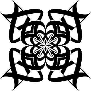 Tribal Ornamental Flower Free Vector