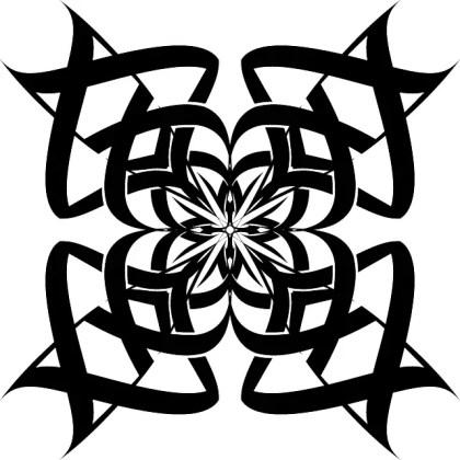 Tribal Ornamental Flower Free Vector