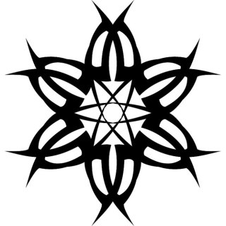 Tribal Star Shape Free Vector
