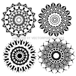 Tribal Star Shapes Free Vector