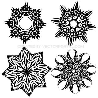 Tribal Stars Free Vector