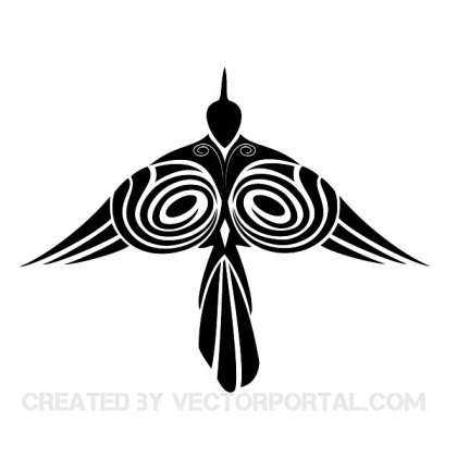 Tribal Style Bird Free Vector