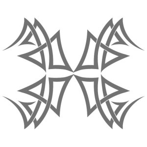 Tribal Tattoo Decal Free Vector