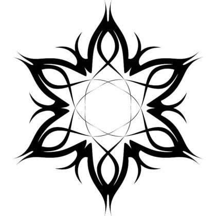 Tribal Tattoo Flower 2 Free Vector