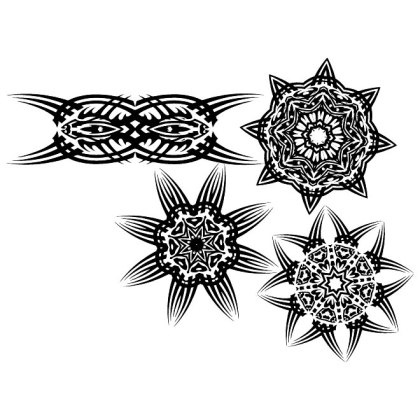 Tribal Tattoo Free Set 3 Free Vector