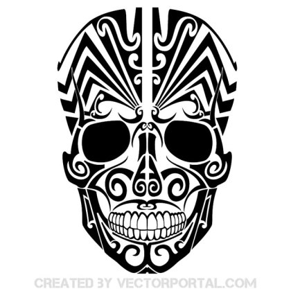 Tribal Tattoo Mask Free Vector