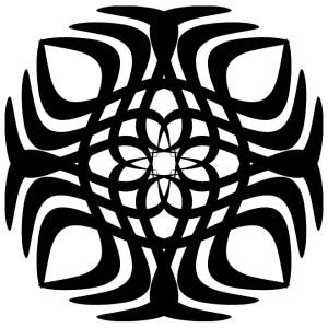 Tribal Tattoo Sun Shape Free Vector