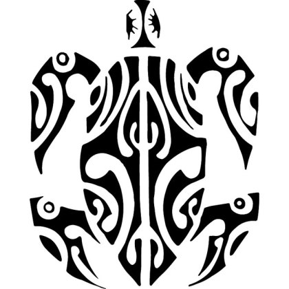 Turtle Free Tribal Style Free Vector