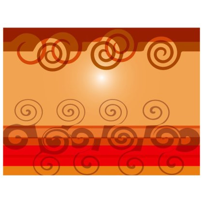 Twirl Abstract Design Free Vector