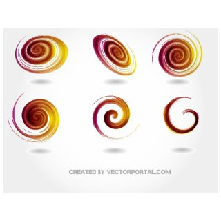 Twirls and Swirls Stock Free Vector