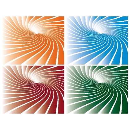 Twisted Sunbeams Background Free Vector