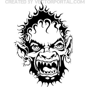 Ugly Face Free Vector