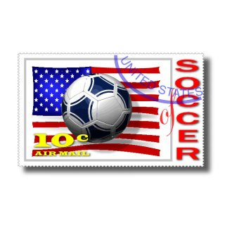 Us Soccer Stamp Free Vector