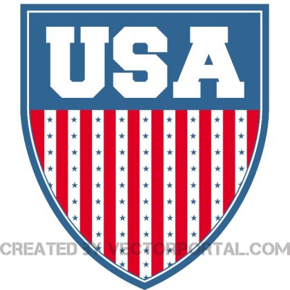 Usa Shield Stock Image Free Vector