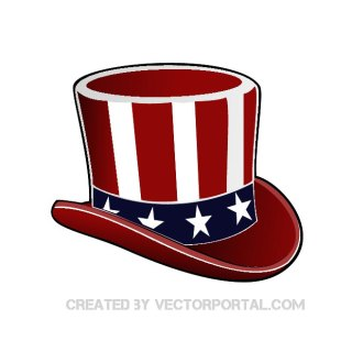 Usa Uncle Sam Hat Free Vector