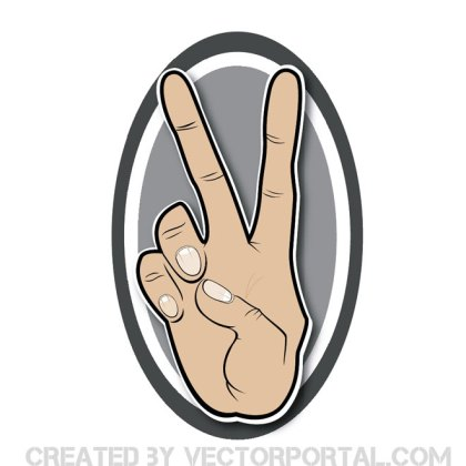 Victory Sign Free Vector