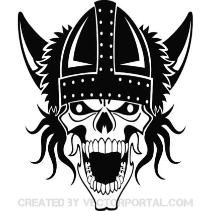 Viking Skull Free Vector