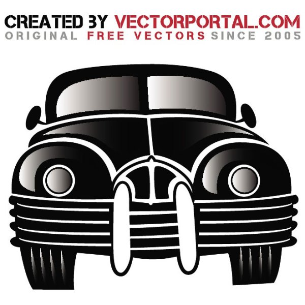 Vintage Car Graphics Free Vector