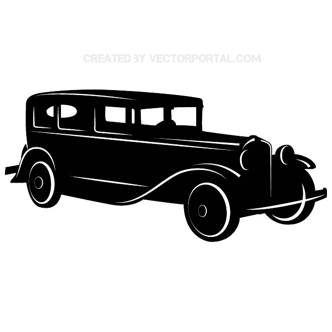 Vintage Classic Car Free Vector