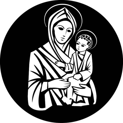Virgin Mary Holds Jesus Christ Free Vector