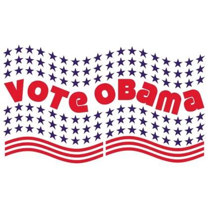 Vote Obama Banner Free Vector