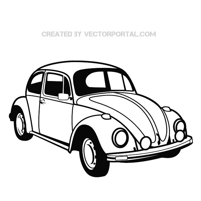 Vw Beetle Graphics Free Vector
