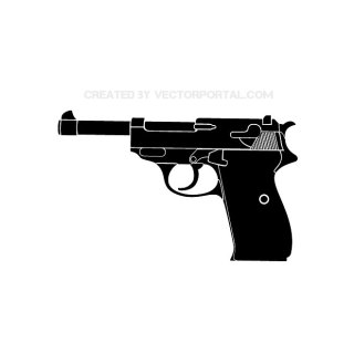 Walther Pistol Free Vector