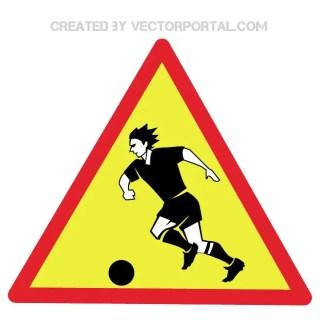 Warning Watching Football Sign Free Vector