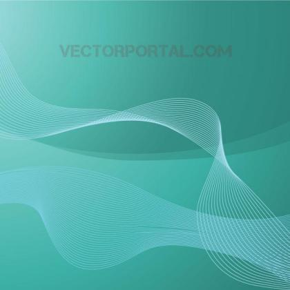 Wavy Flowing Lines Graphics Free Vector