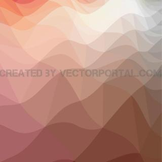Wavy Polygonal Art Free Vector