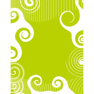 White Swirls on Green Background Free Vector