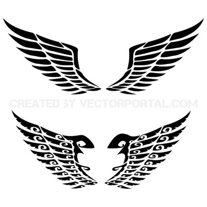 Wing Set Free Vector