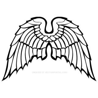 Wings Clip Art 5 Free Vector