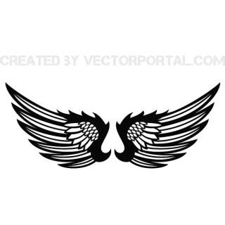Wings Clip Art Stock Free Vector