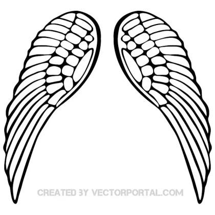 Wings Design Free Vector