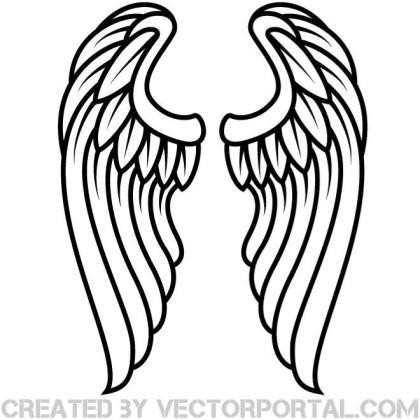 Wings Outline Clip Art Free Vector